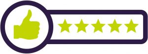 Rory the Rescue Dog 5 star review icon